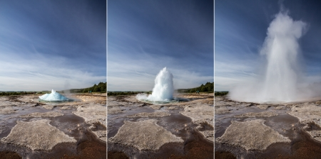 geysir explosion Stock Photo