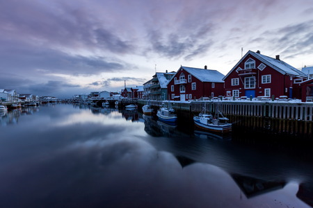 tipical village in lofoten iceland