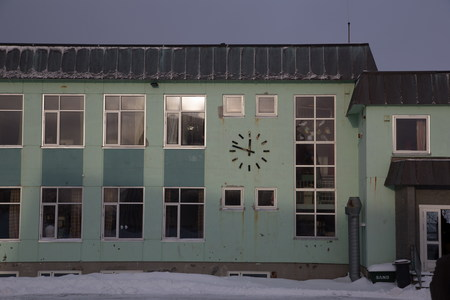 artic: soviet style building in artic zone