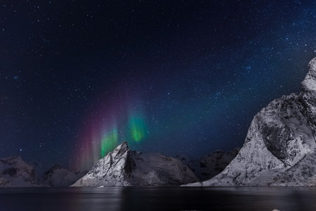 artic night at lofoten island
