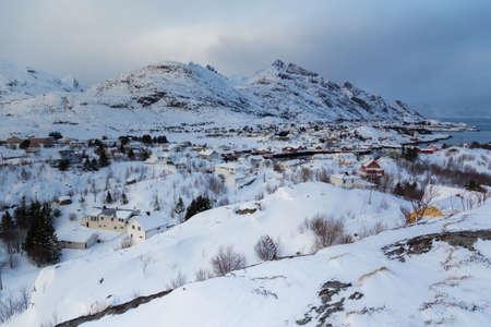 lofoten island during winter time photo