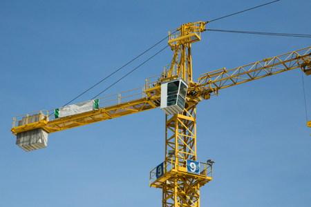 constraction: constraction crane Stock Photo