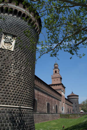 sforzesco: milan castle Editorial