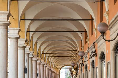 portico: under portico