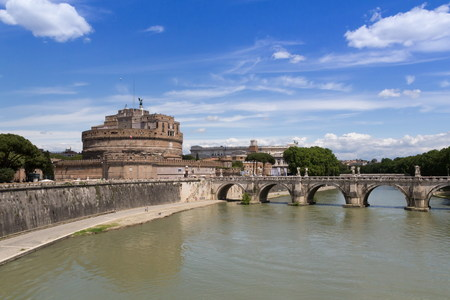 st angel castle in Rome Stock Photo