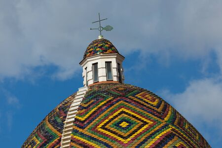 san michele: dome with colored tiles on the roof