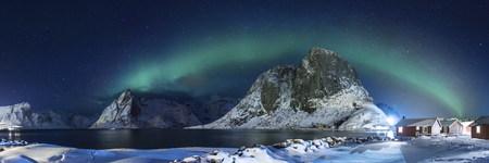 auroral: lofoten island Stock Photo
