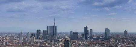 distric: new Modern distric, Milan downtown Stock Photo
