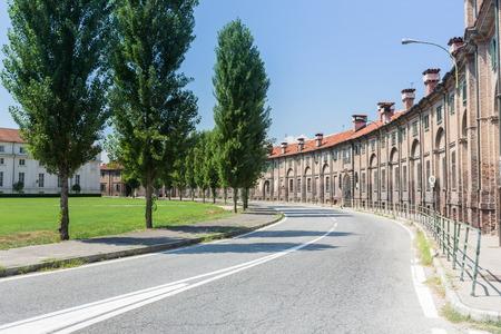 hinterland: curved street in Turin hinterland