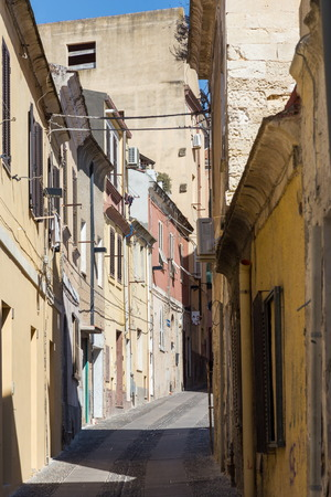 typical: typical alley in Sassari downtown