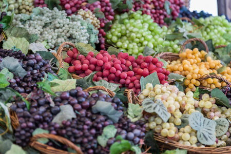 variants: different grapes variants at greengrocery
