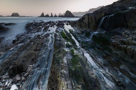 Playa de Gueirua, asturia, spain