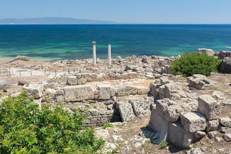 Tharros ruins at San Giovanni in Sinis, Sardinia Stock Photo