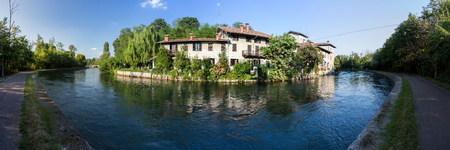 farm house along navilio canal, Lombardia, Italy