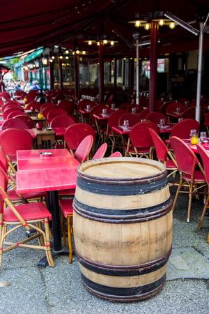brasserie: empty brasserie before opening hour