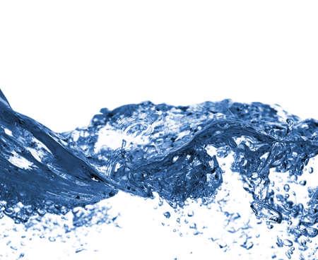 Crisp, clara, refrescante agua sobre un fondo blanco. Foto de archivo - 4957801