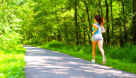 Young woman exercising, from a complete series of photos.
