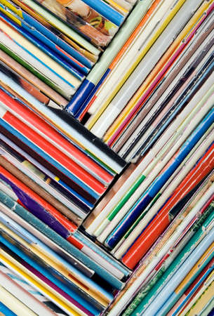 broadsheet: Composition of papers, magazines and others print works Stock Photo