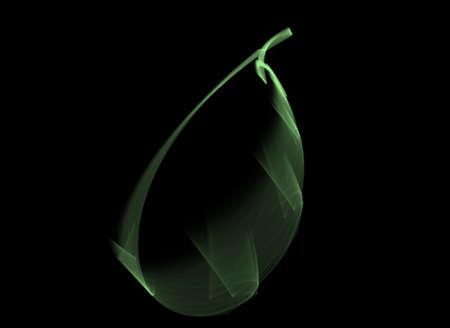 black backgound: Green vector in black backgound Stock Photo