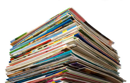 others: Composition of papers, magazines and others print works Stock Photo