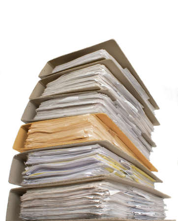 A lot of documents with one another color catalgo Stock Photo
