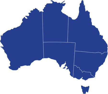 there: There is a map of Australia country