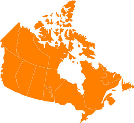 there: There is a map of Canada country