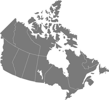 Il ya une carte du Canada, pays