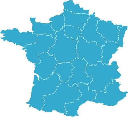 There is a map of France country Stock Vector - 4292595
