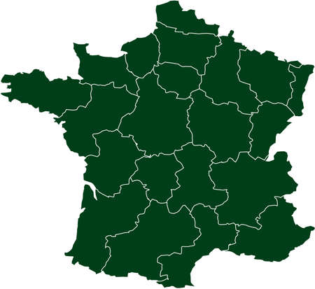 there: There is a map of France country