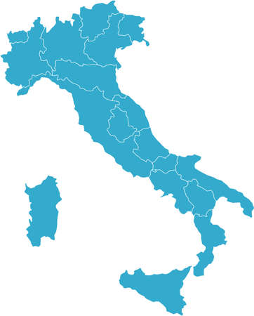 There is a map of Italy country Illustration