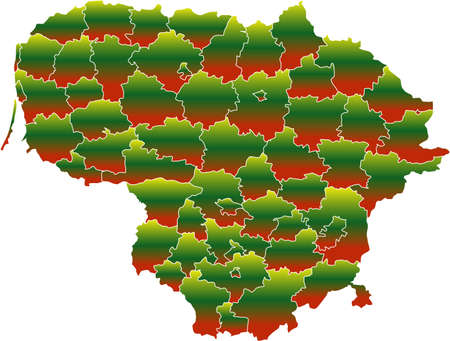 There is a map of Lithuania country Stock Vector - 4292614