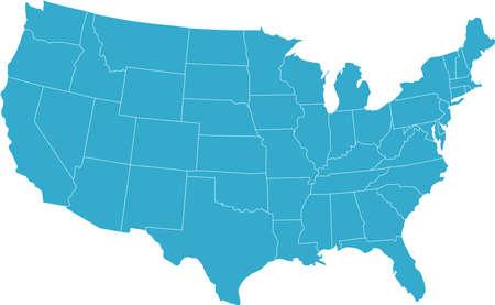 ville usa: Il ya une carte du pays Etats-Unis Illustration