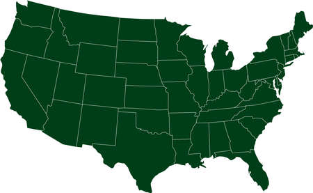 There is a map of USA country Vector