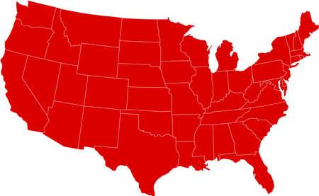 Hay un mapa de EE.UU. país