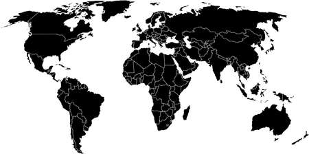 there: There is a global map of world
