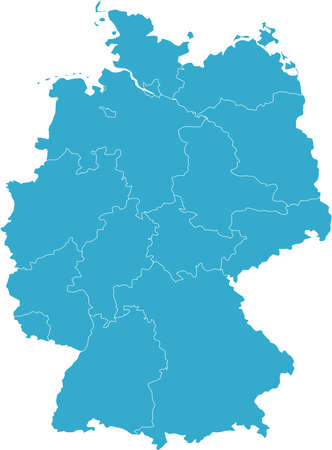 There is a map of Germany country Stock Vector - 4353338
