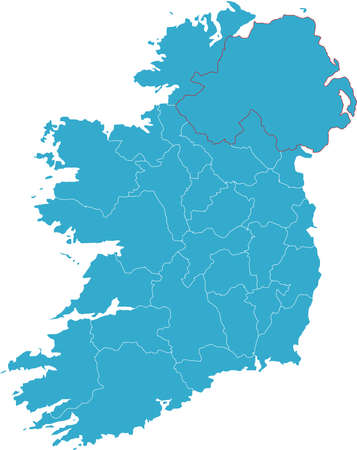 There is a map of Ireland country Stock Vector - 4353344