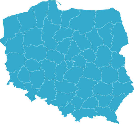 There is a map of Poland country Stock Vector - 4353341