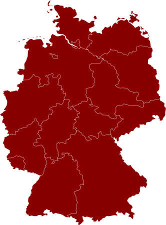 There is a map of Germany country Stock Vector - 4361621