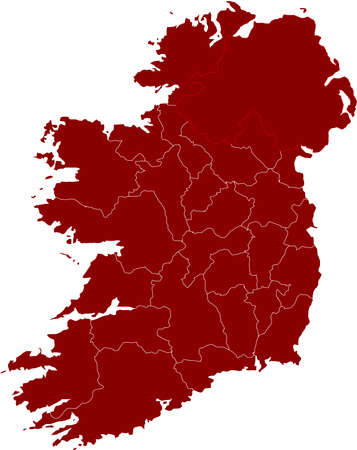 boundary: There is a map of Ireland country