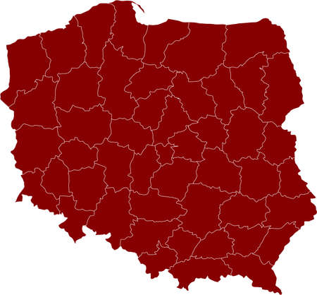 There is a map of Poland country Stock Vector - 4361622