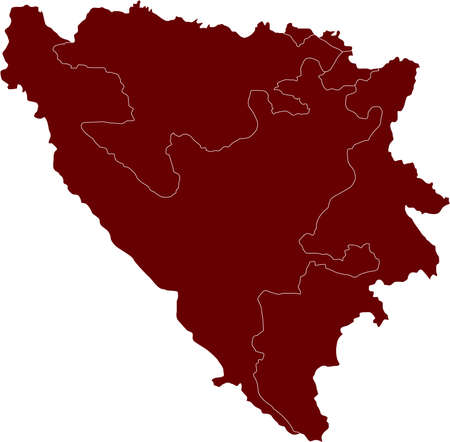 There is a map of Bosnia and Herzegovina country Stock Vector - 4378196