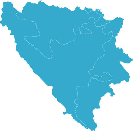 There is a map of Bosnia and Herzegovina country Stock Vector - 4378197