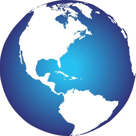 Er is globaal overzicht van de aarde vanuit de ruimte