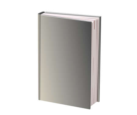 grey: There is a book with grey cover