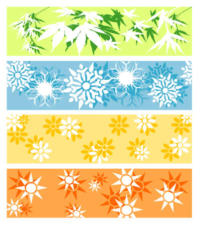 Vector illustration, blocks displaying seasons of the year Stock Vector - 5033014