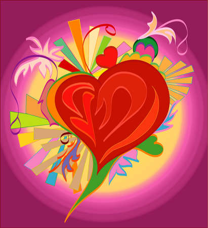 There is a picture of the heart for design, congratulation cards and so on Vector