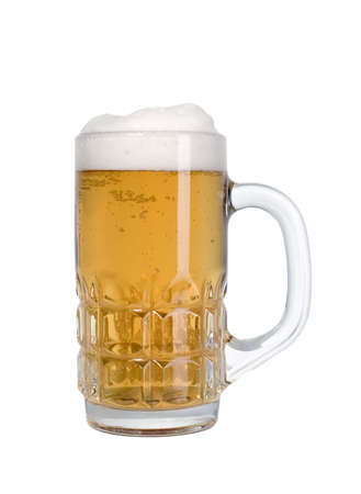 gaseous: Good beer with foam up for everyone Stock Photo