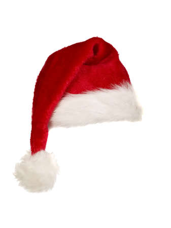 bobble: A red christmas cap with white edges and bobble